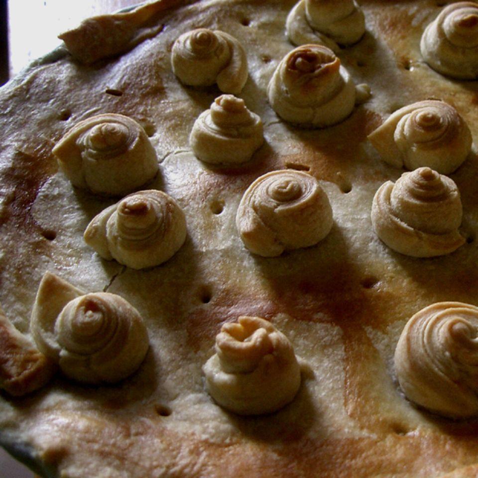 Hähnchen-Lauch-Pie