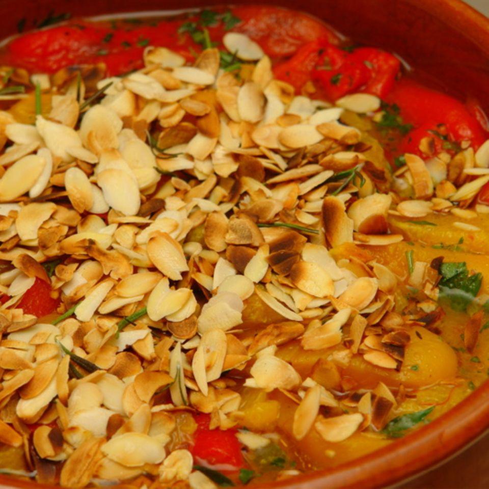 Paprika mit Safran