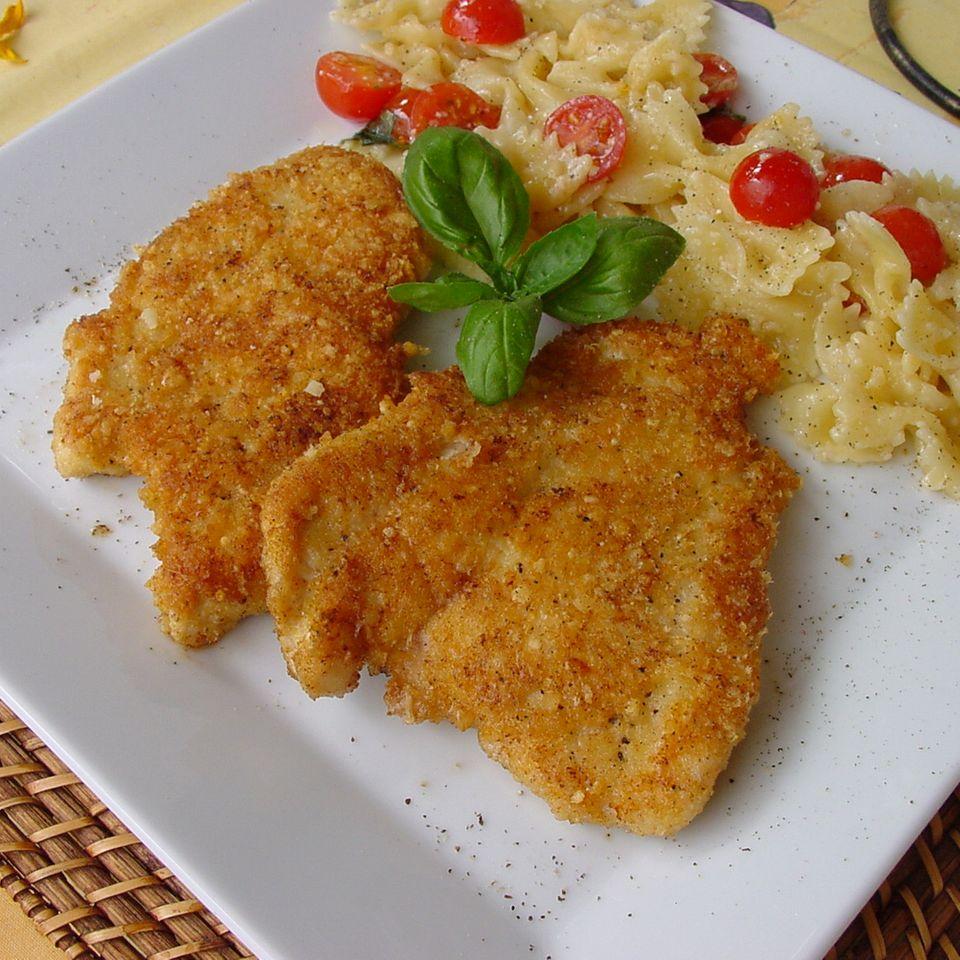 Putenschnitzel mit Käsekruste