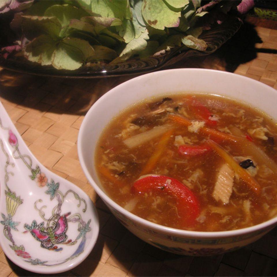 Süß-saure Chinesische Gemüsesuppe