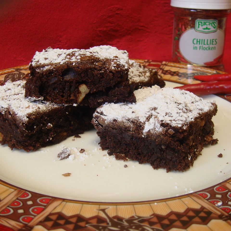 Scharfe Chili-Brownies