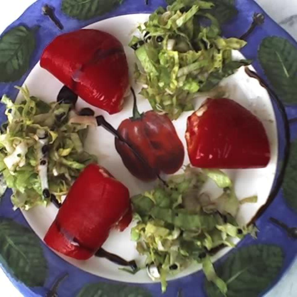 Paprika mit Thunfischfüllung