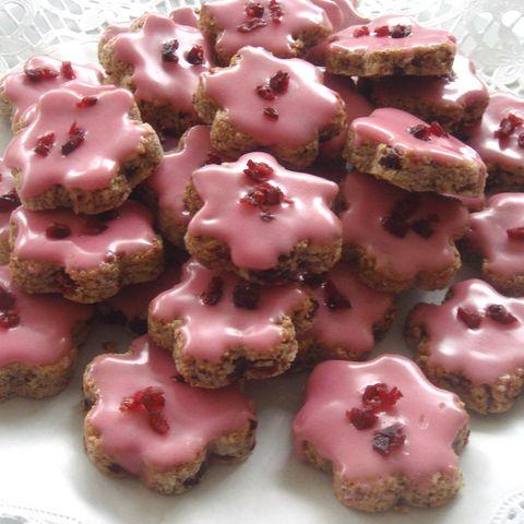 Mandelplätzchen mit Cranberries