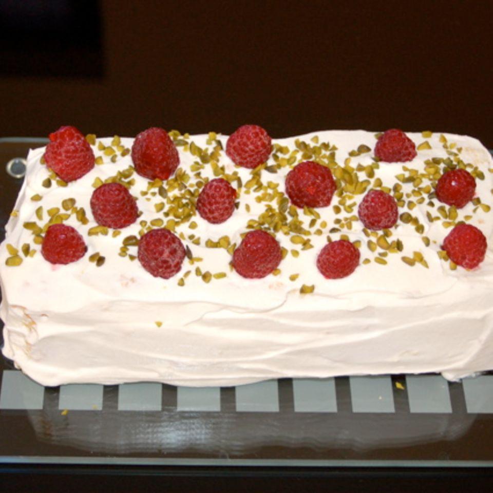Himbeer-Biskuit-Kuchen