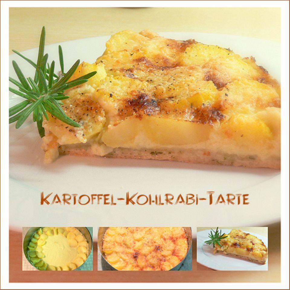 Kartoffel-Kohlrabi-Tarte - Cavolo rapa patata tarte