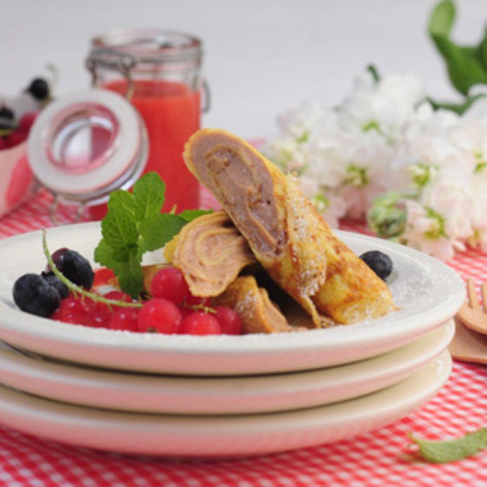 Wraps mit Schoko-, Nuss-Nougat- oder Fruchtcremefüllung