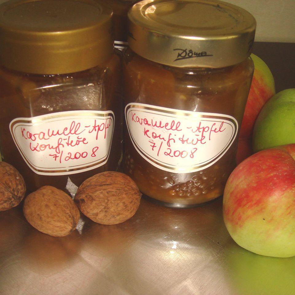 Karamell-Apfel-Konfitüre