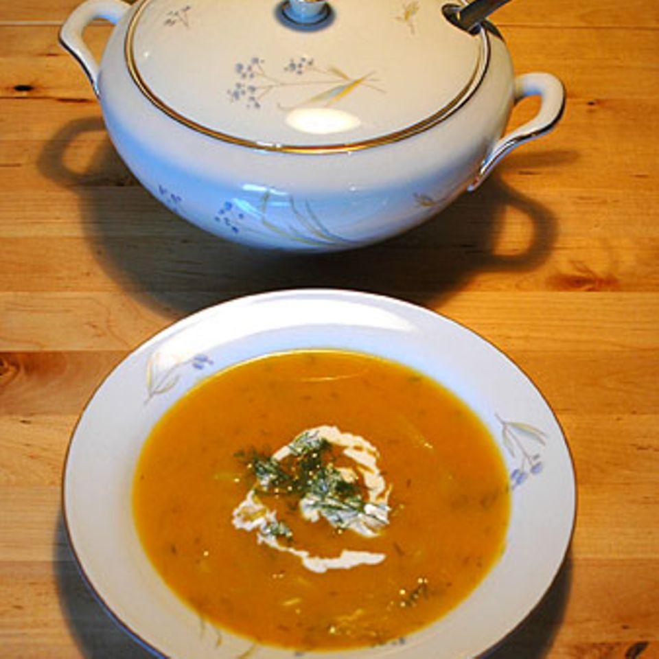 Cremige Kürbissuppe