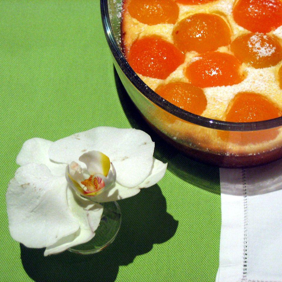 Ricotta-Grieß-Auflauf mit Aprikosen