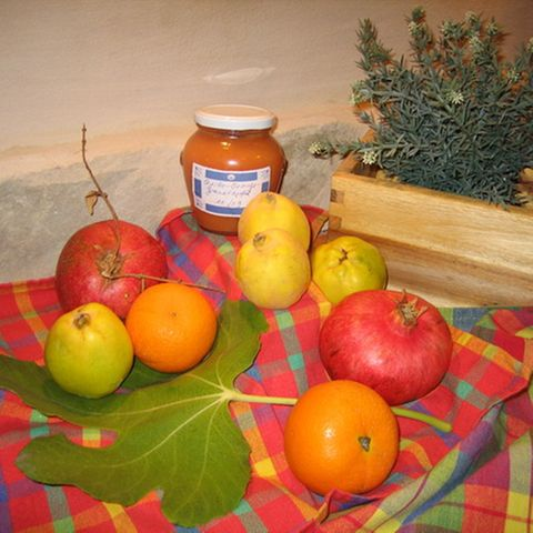 Quittenkonfitüre mit Orange und Granatapfel