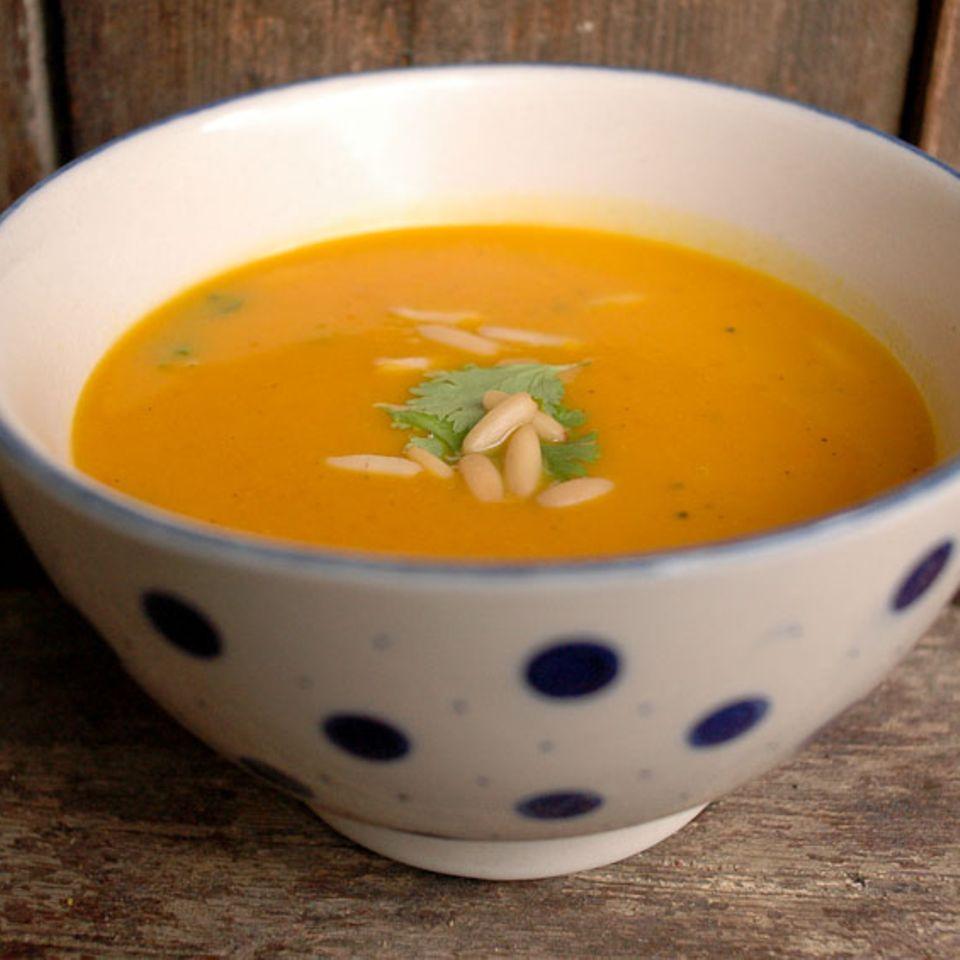 Kürbis-Papaya-Suppe