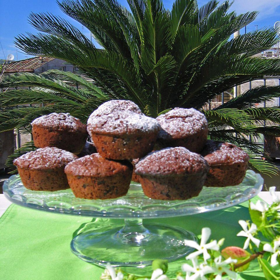 Schokoladige Schokotröpfchen-Muffins