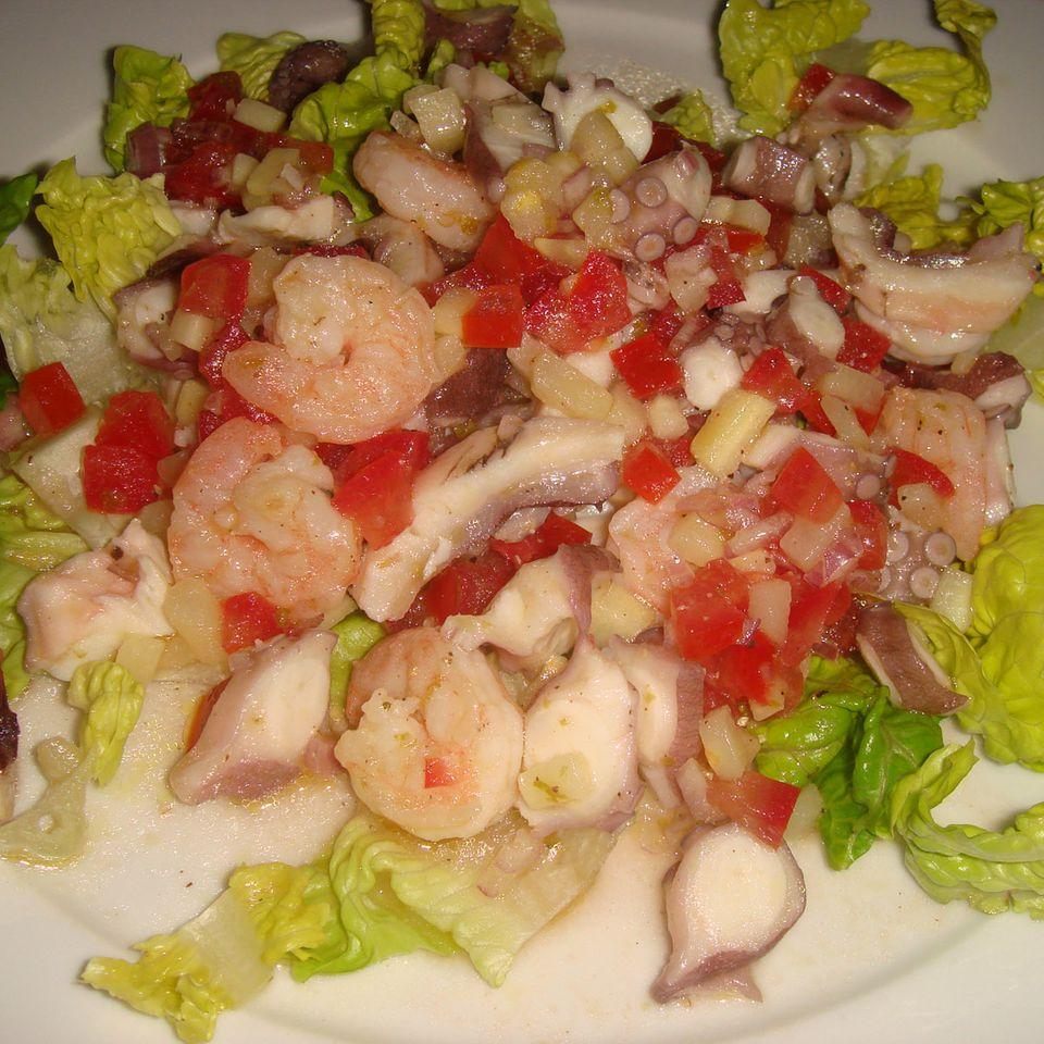 Pulpo- oder Tintenfischsalat