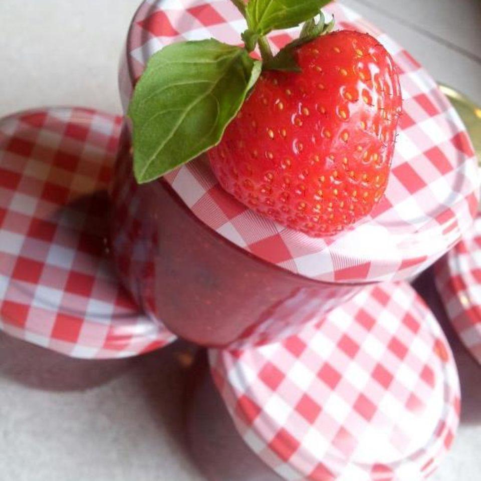 Erdbeer Basilikum Marmelade