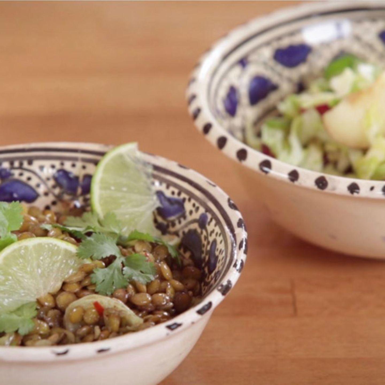 Rezept für Linsen-Dal mit mariniertem Spitzkohl von Nicole Just