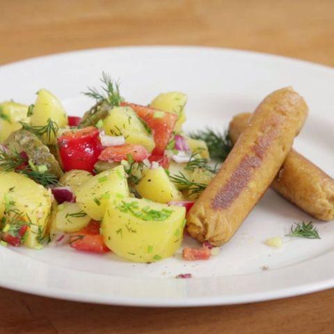 Rezept für Vegane Würstchen und Frühlings-Kartoffelsalat von Nicole Just