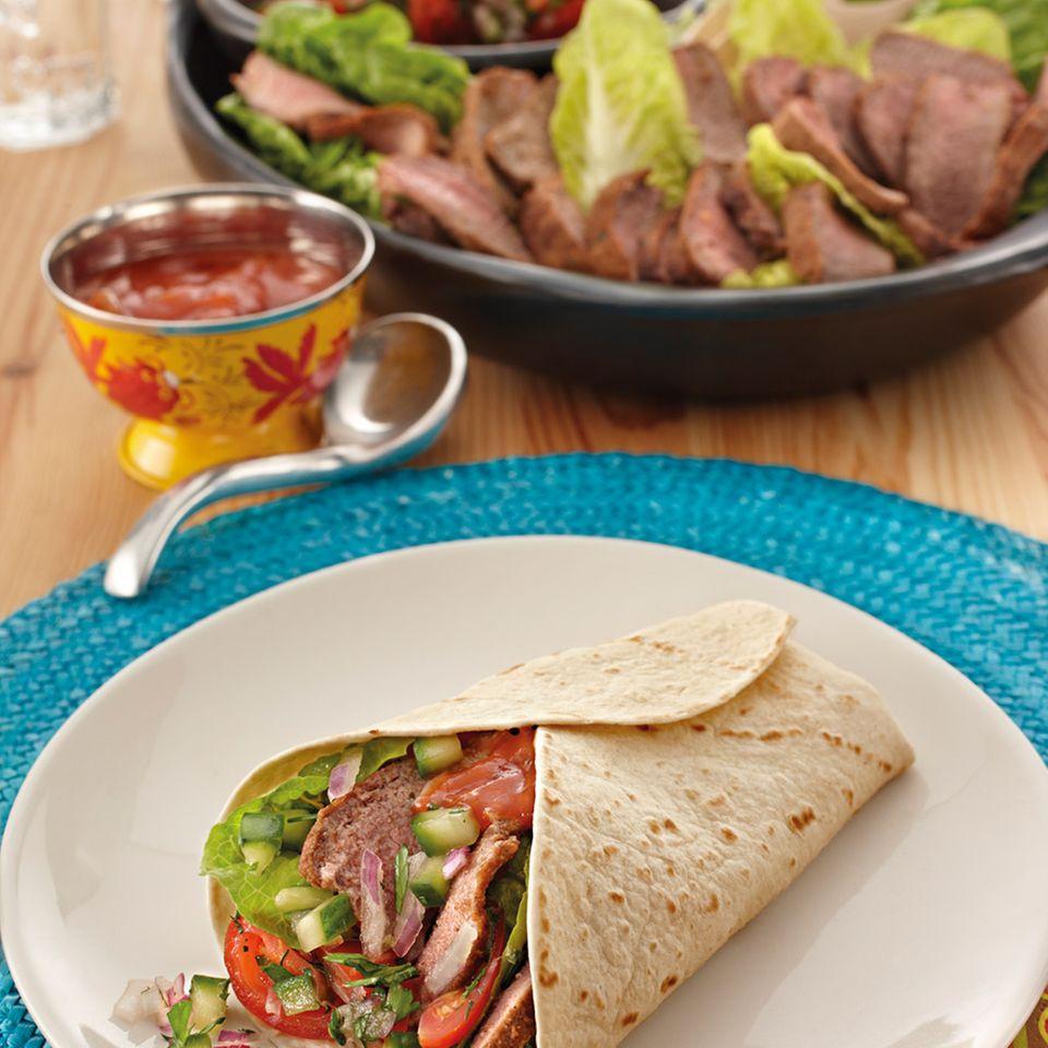 Lamm-Tomaten-Burrito