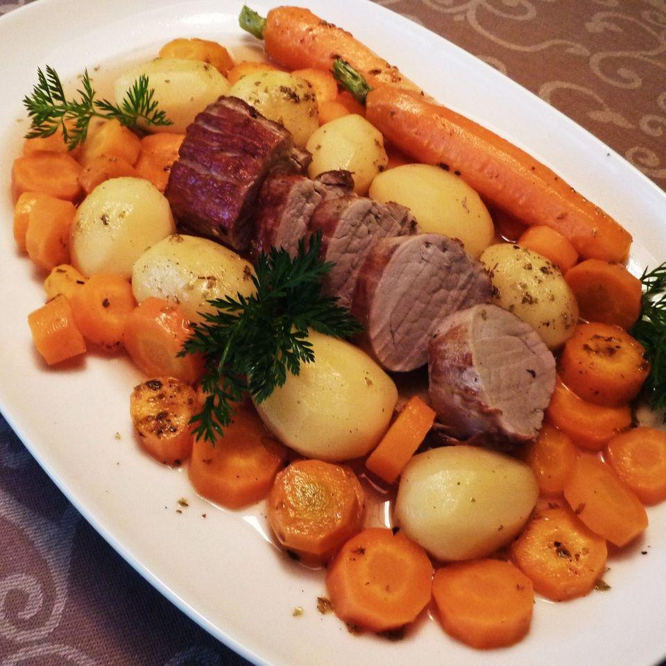 Kartoffeltopf mit Schweinefilet