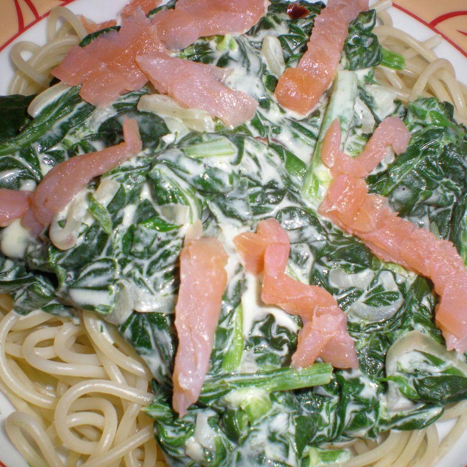 Spinat-Mascarpone-Sauce für Pasta