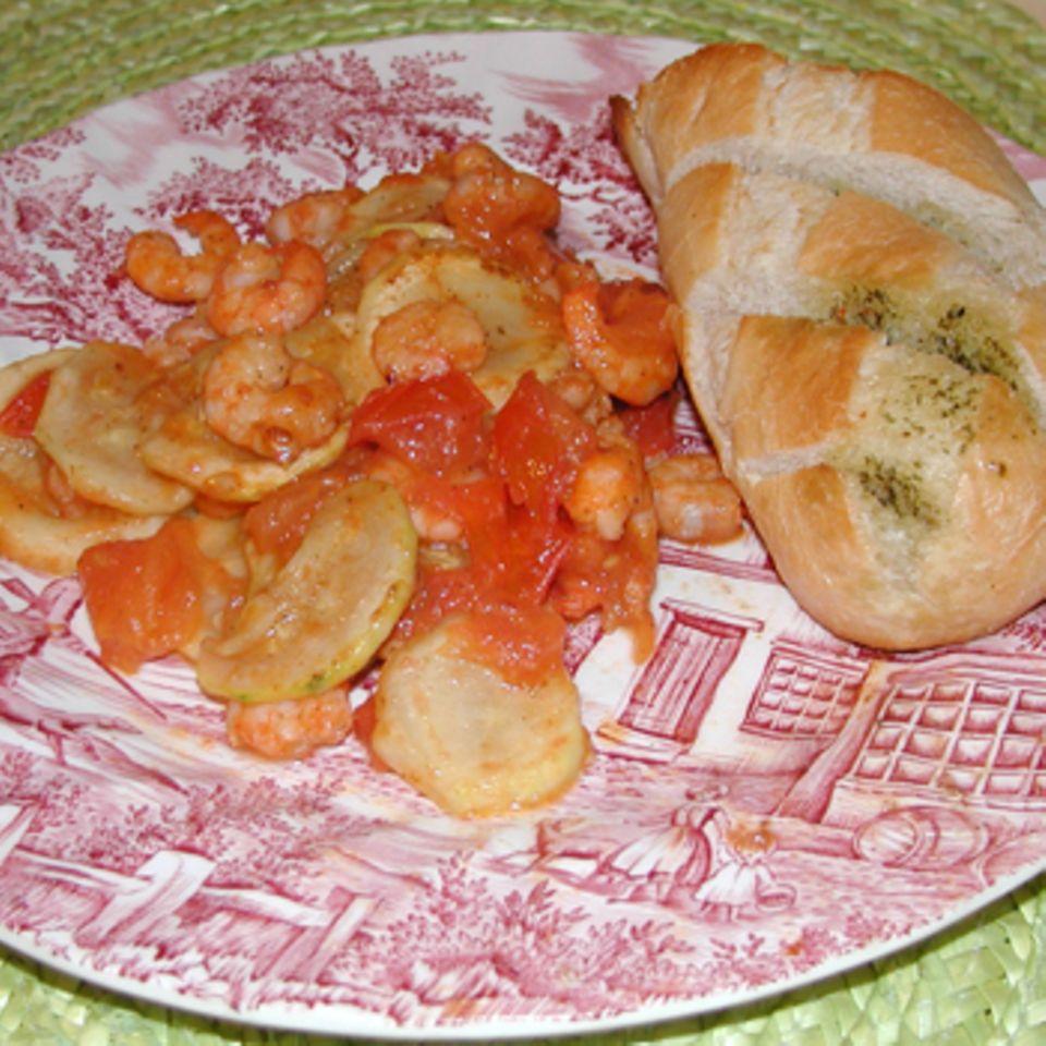 Garnelen-Zucchini Snack