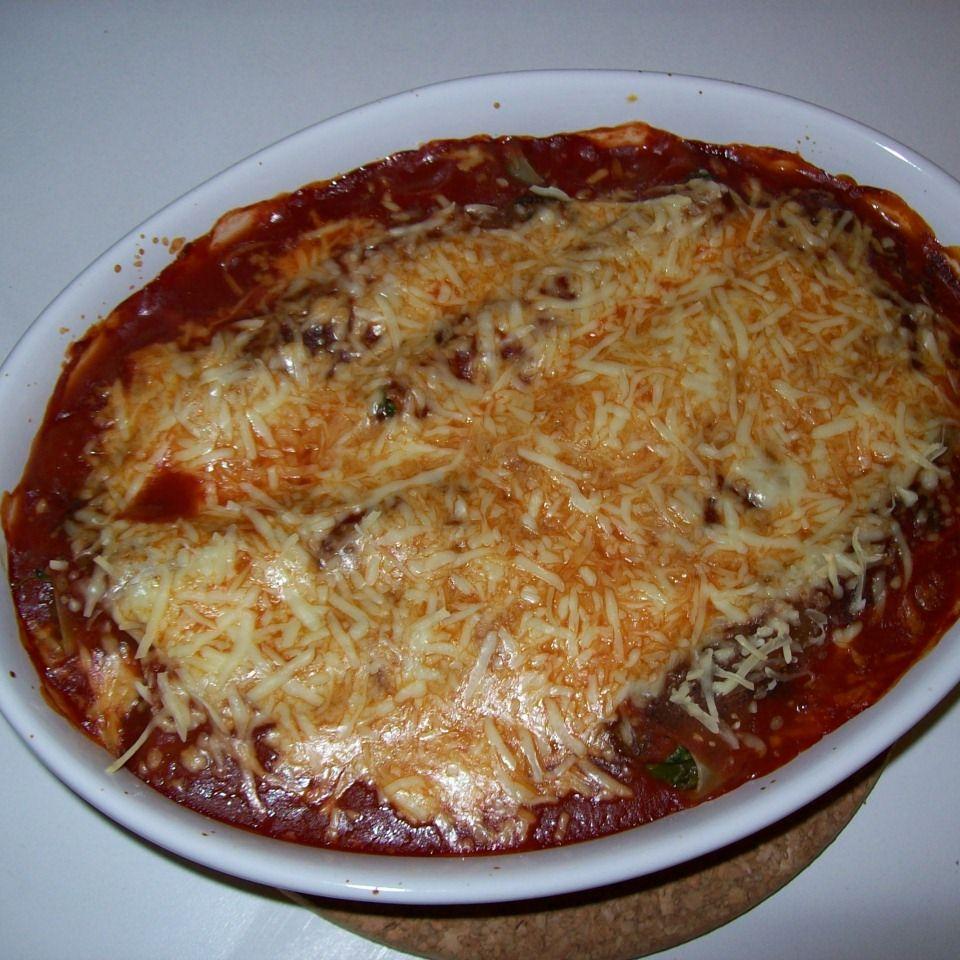 Cannelloni mit Spinat und Feta
