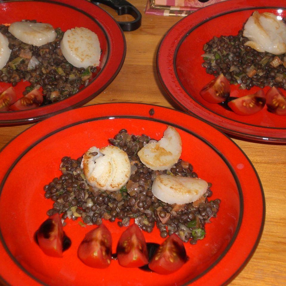 Linsensalat aus Puy-Linsen