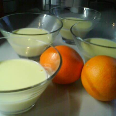 Orangen-Panna-cotta