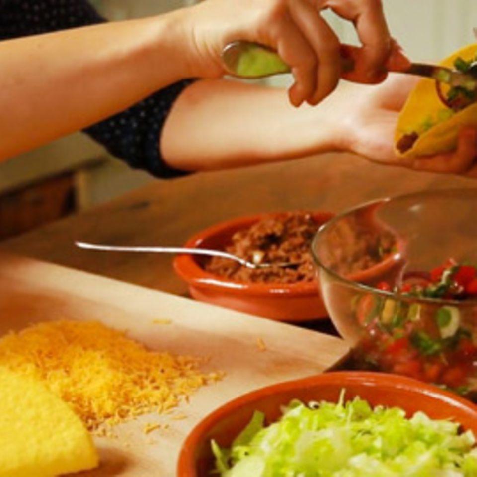 Rezept für Hackfleisch-Tacos
