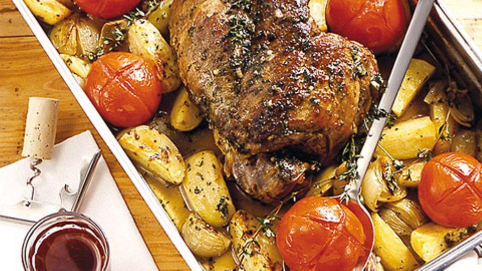 Kräuter-Lammkeule