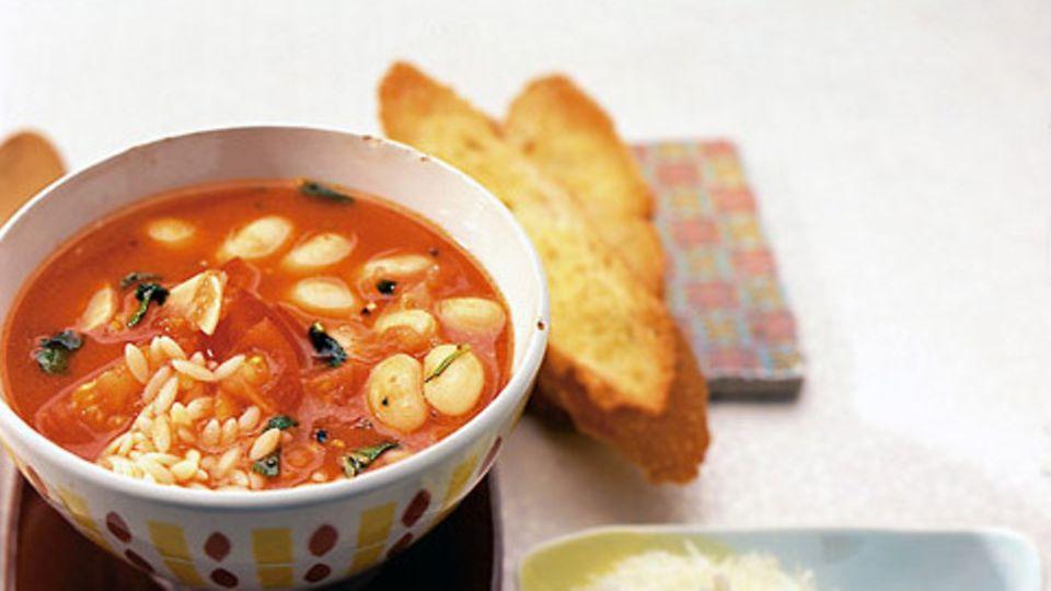 Tomaten-Bohnen-Suppe
