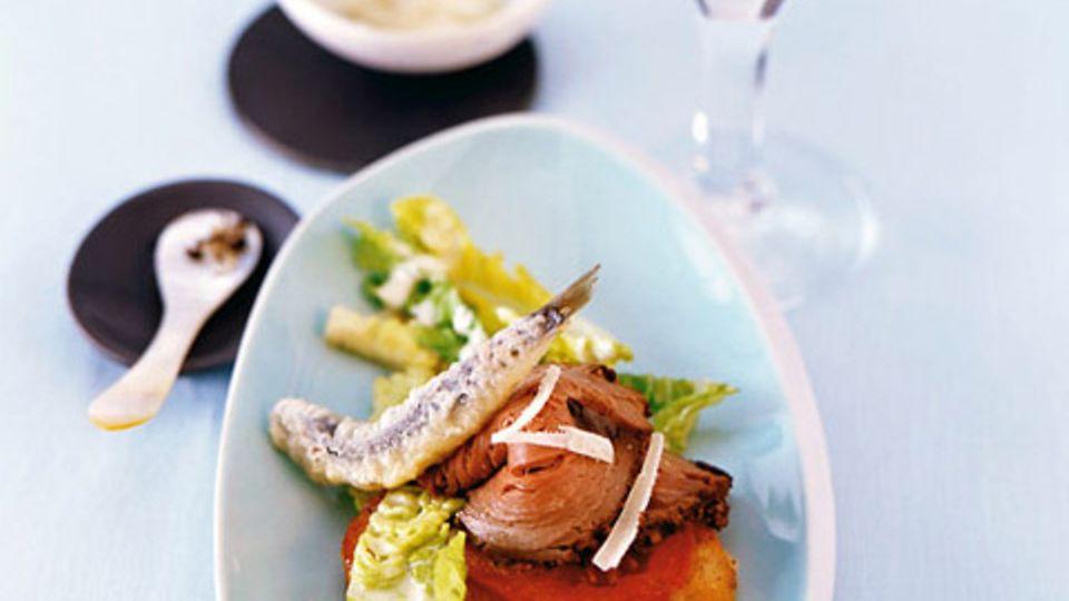 Caesar's Salad mit Rinderfilet