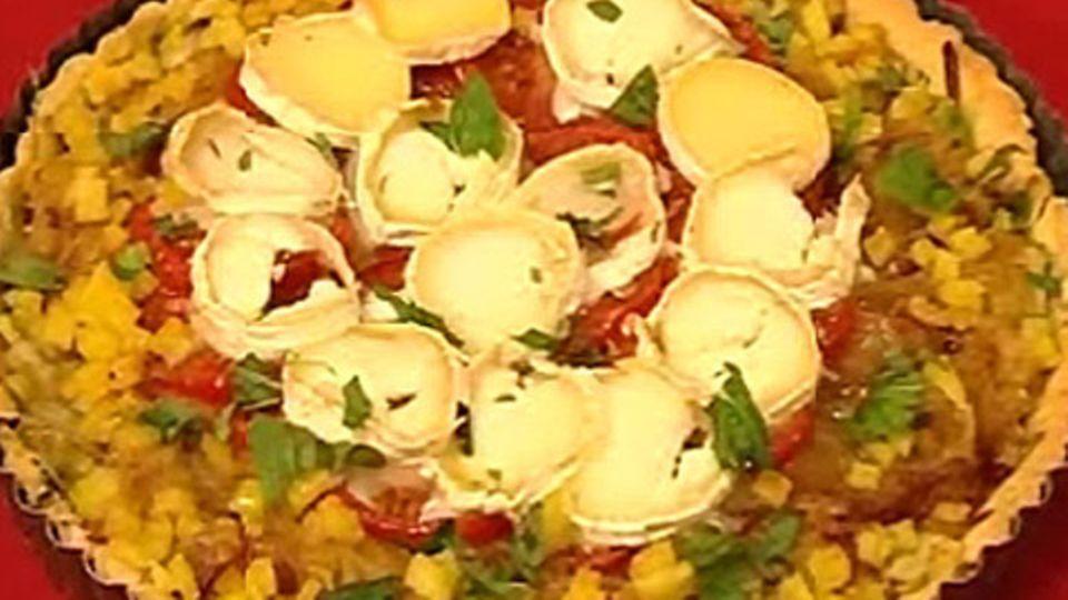 Gemüsetarte mit Auberginen und Ziegenkäse