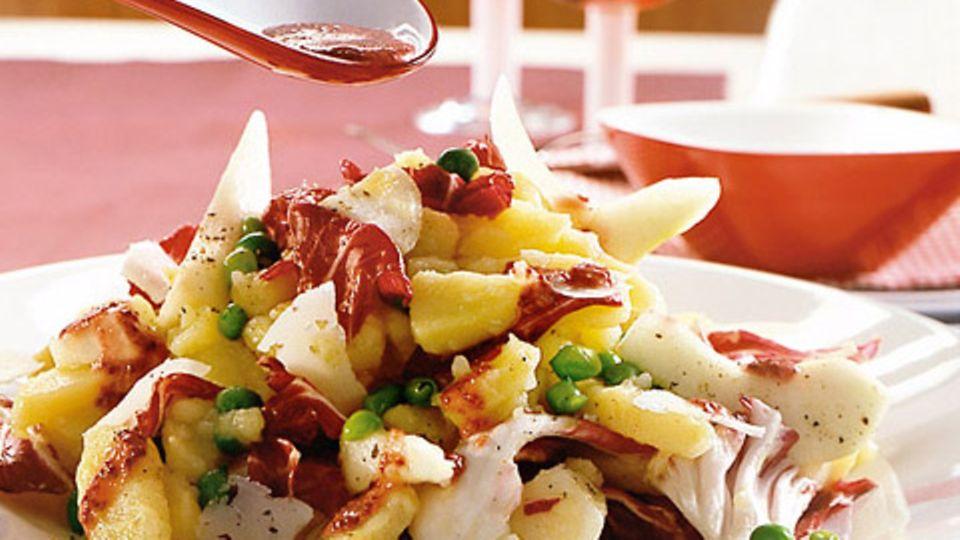 Kartoffelsalat mit Birnen und Radicchio