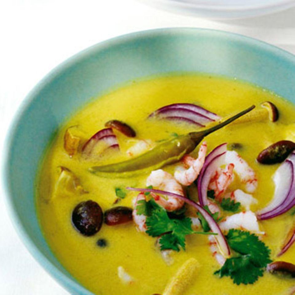 Thai-Suppe mit Steckrüben