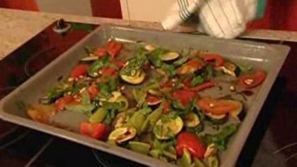Ofengemüse mit gratiniertem Ziegenkäse
