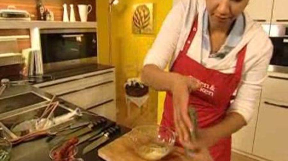 Kartoffel-Tortilla mit Feldsalat