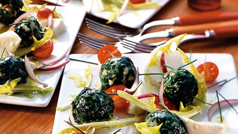 Spinatknödel-Salat