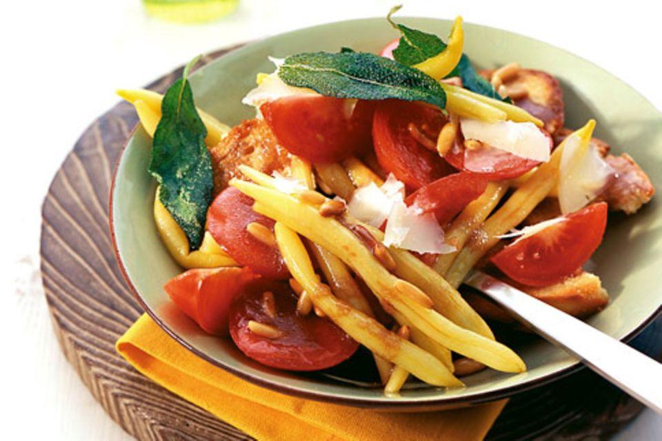 Tomatensalat mit Wachsbohnen