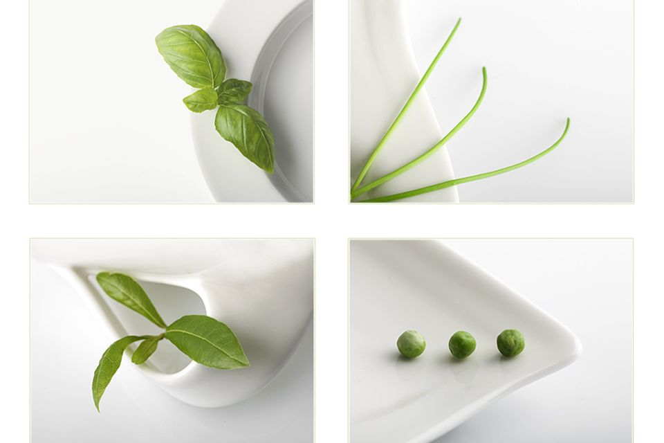 Gemüsetürmchen mit Basilikum-Dip