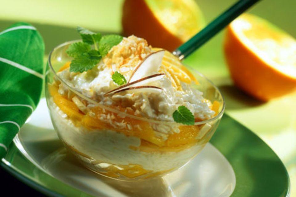 Quark-Kokos-Reis mit Mango