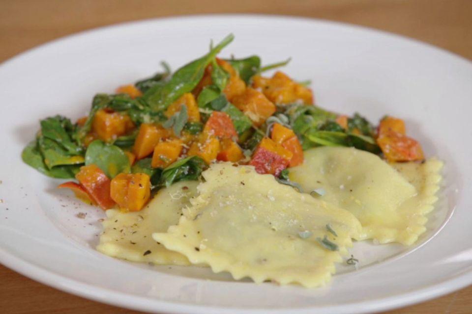 Rezept für Vegane Ravioli mit Herbstgemüse von Nicole Just
