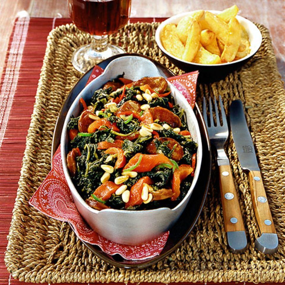 Spanischer Grünkohl mit Chorizo