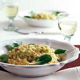 Birnen-Chili-Risotto mit Feldsalat