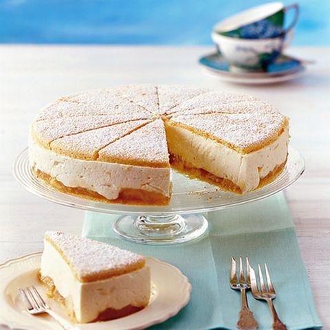 Käse-Sahne-Torte mit Birnen
