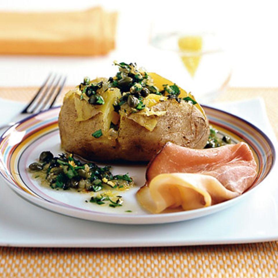 Ofenkartoffel mit Kräuteröl