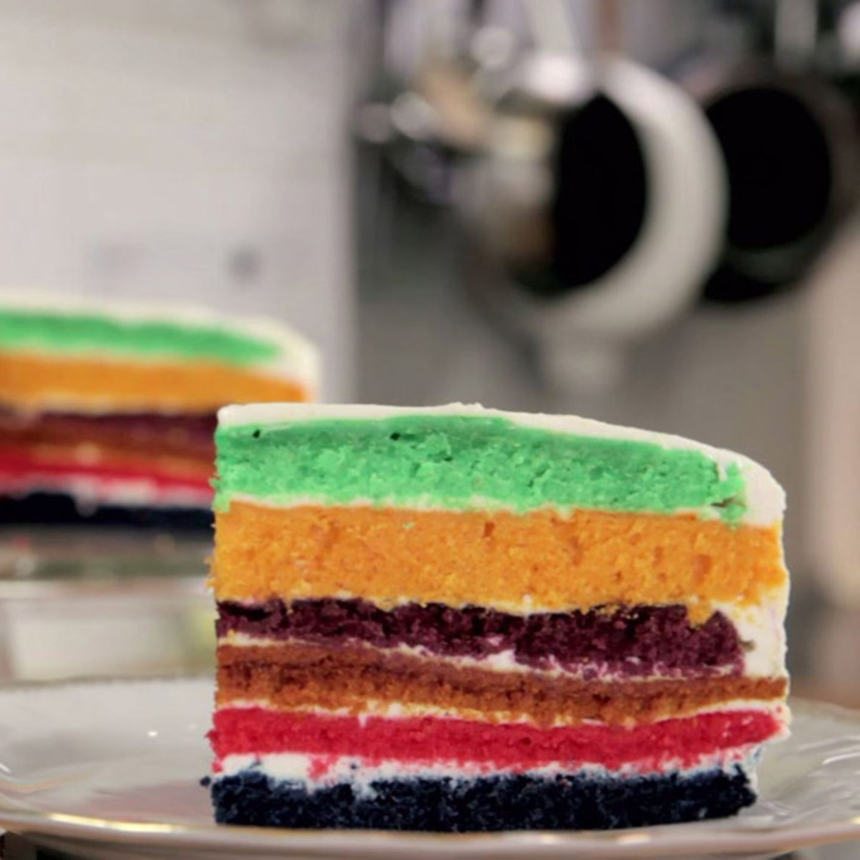 Rezept für Regenbogenkuchen von Rike Dittloff