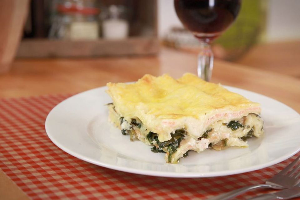 Rezept für Lachs-Spinat-Lasagne von Fabio Haebel