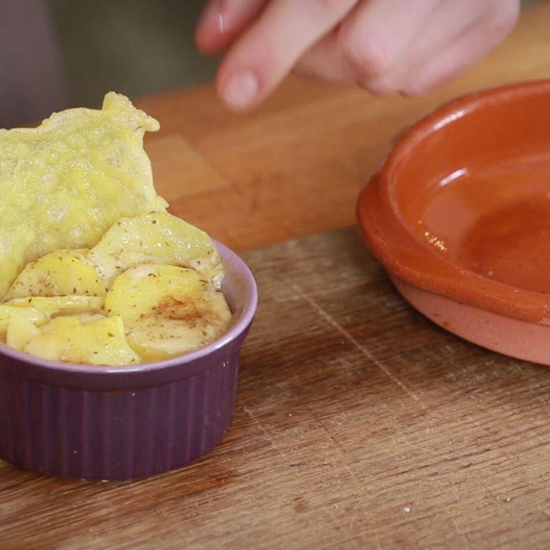 Rezept für Kleine Kartoffelgratins mit Käsechips von Fabio Haebel
