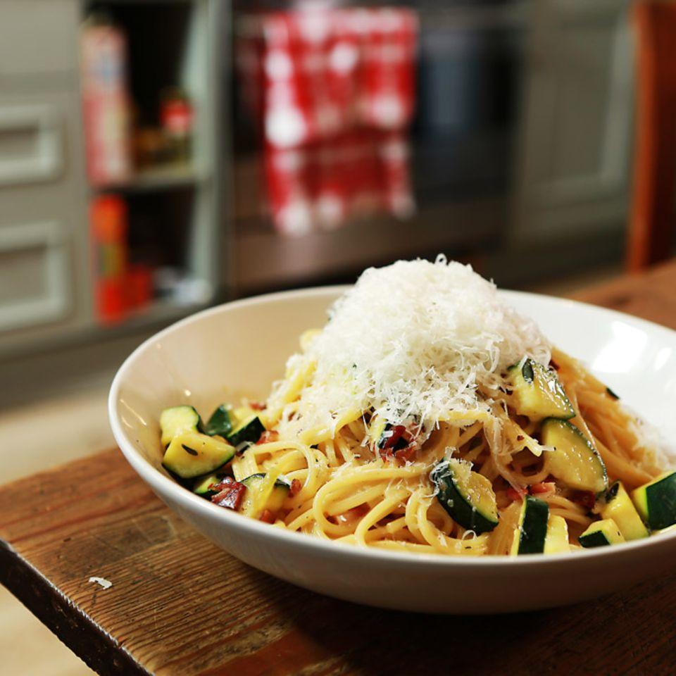 Rezept für Zucchini-Carbonara