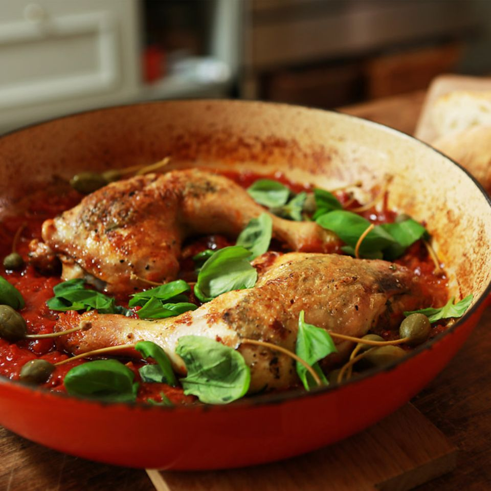 Rezept für Italienische Hähnchenkeulen